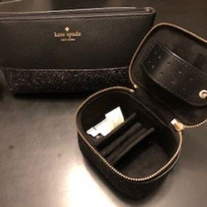Kate Spade make-up bag & travel jewelry box